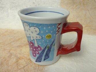 水色マグカップの画像