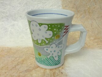 グリーンのマグカップの画像