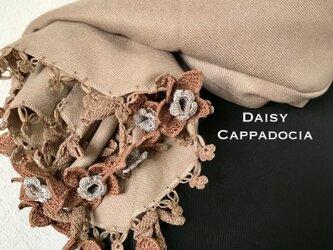 【オータムセール】立体のお花つき パシュミナストール ベージュの画像