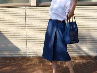 デニムラップスカートの画像