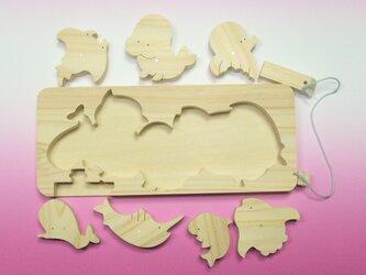 送料無料 木のおもちゃ 海の仲間つりの画像