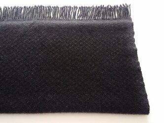 手織りのカシミヤストール/ L /ダークグレーの画像