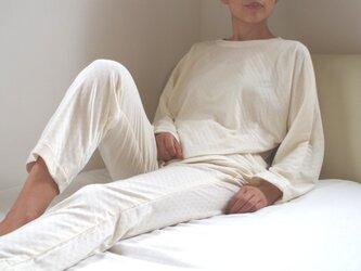 OrganicCotton ねこあしエアニットパジャマの画像