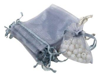 10枚入り オーガンジー巾着袋 【シルバー 銀色】 アクセサリーバック ラッピング 無地 シンプル ギフトの画像