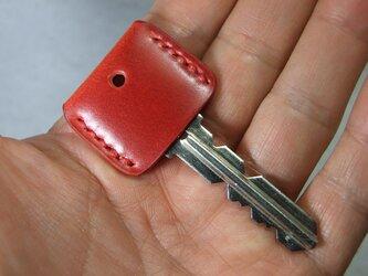 コードバン赤のキーカバー 赤ステッチの画像