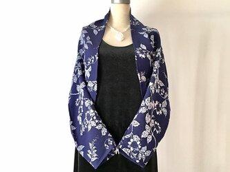 正絹反物 マーガレット ストール 長袖  羽織りもの 着物リメイクの画像