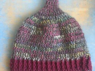 葡萄畑の巣  LL とんがり帽子 ニット帽 の画像