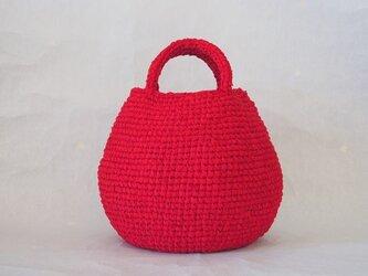 まんまるバッグ (裂き編みバッグ)の画像