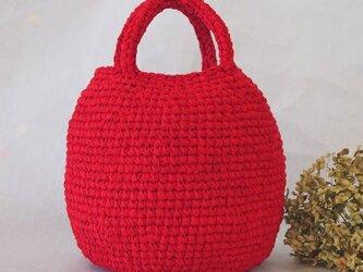 まんまるバッグ Bタイプ(裂き編みバッグ)の画像