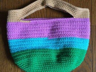 手編みのミニトートバッグ③の画像