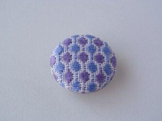 こぎん刺し*帯留め 青×紫の画像