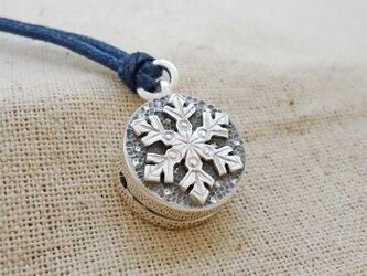 鈴『雪の結晶』銀製(シルバー925)の画像