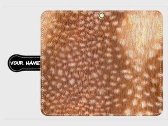 質感プリント アニマル柄 <バンビ> アンドロイド大サイズスマホ 全機種対応の画像