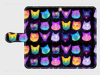 猫宇宙 ーspace catー android S,Mサイズ 専用手帳型スマホケースの画像