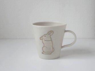 銀兎マグカップ(白)の画像