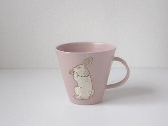 銀兎マグカップ(ピンク)の画像