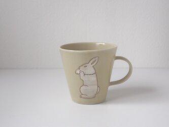 銀兎マグカップ(黄)の画像