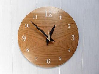 ヤマザクラ 26㎝ 曲面時計euph 012s 文字盤白色の画像