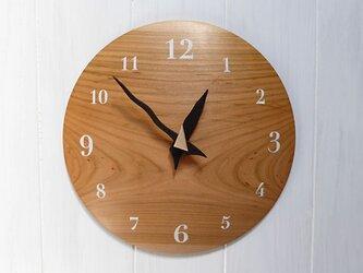 ヤマザクラ 26㎝ 曲面時計euph 013s 文字盤白色の画像