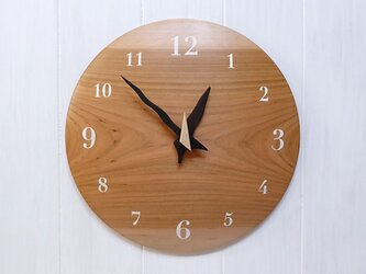 ヤマザクラ 30㎝ 曲面時計euph 009s 文字盤白色の画像