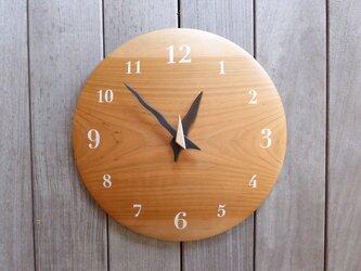 ヤマザクラ 30㎝ 曲面時計euph 010s 文字盤白色の画像