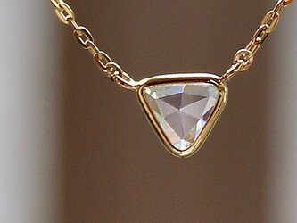 Rosecut Diamond Necklace / K18YGの画像