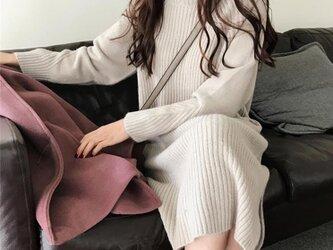【受注製作】カシミアワンピース・セーター ニット オーダーメイド 豊富な色 HJE-12の画像