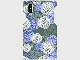 北欧デザイン ボタニカルフラワー(ブルー)  iphone5/5c/5s/6/6s/7/8/X 等 専用 ハードケースの画像