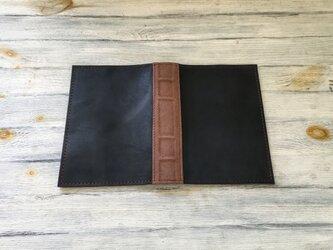 洋古書風のブック・ブックカバー/ブラック×ブラウンの画像