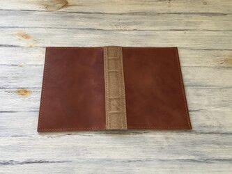 洋古書風のブック・ブックカバー/キャメル×ブラウンの画像