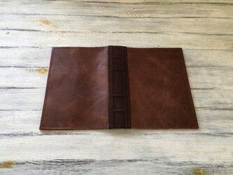 洋古書風のブック・ブックカバー/ブラウン×チョコの画像