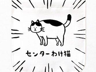 センターわけ猫 ポケット付 Tシャツの画像