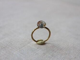 Brass Point Ring*モスアクアマリン*真鍮リングの画像