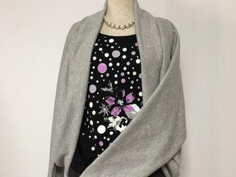 マーガレットボレロ  羽織りもの 杢グレー ドルマンスリーブ ニットの画像