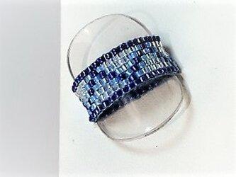 ★ビーズ織り★【リング】ブルー11♪の画像