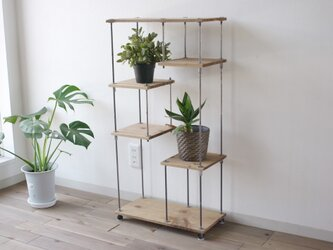 wood iron shelf 890*450*225〈ナチュラル〉の画像