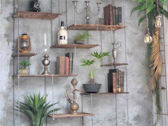 wood iron shelf 1740*1200*300の画像
