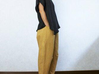 ゆったりリラックス♪ひざ立体パンツ(マスタードイエロー)の画像