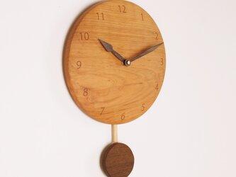 木製 振り子時計 桜材4の画像