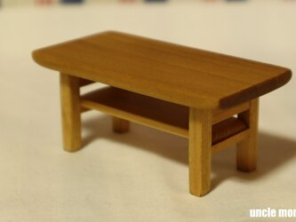 ドール用ローテーブル(色:オーク) 1/12ミニチュア家具の画像