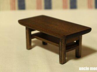 ドール用ローテーブル(色:エボニー) 1/12ミニチュア家具の画像