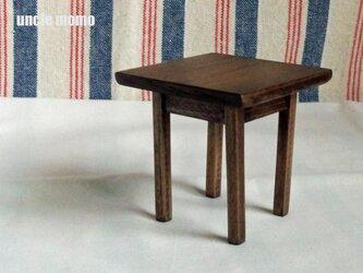 ドール用テーブル小(色:エボニー) 1/12ミニチュア家具の画像