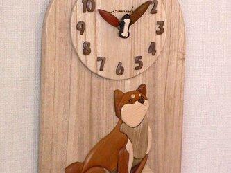 時計 柴犬   *秒針が骨バージョンの画像