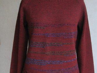 ラグラン袖のセーターの画像