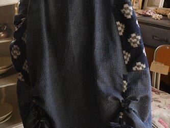 藍染と古布のハイネックワンピースの画像