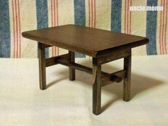 ドール用長テーブル(色:エボニー) 1/12ミニチュア家具の画像