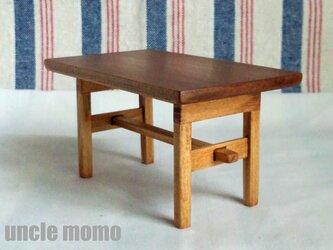 ドール用長テーブル(色:チェスナット) 1/12ミニチュア家具の画像