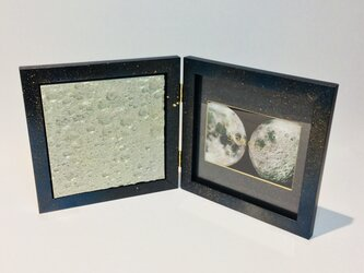 3D Moon textures(Silver Gold) + Galaxy Photo Frameの画像