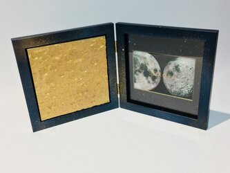 3D Moon textures (Pink Gold) + Galaxy Photo Frameの画像