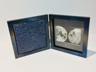 3D Moon textures (Navy Silver) + Galaxy Photo Frameの画像